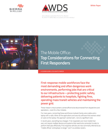"The ""FirstNet-Ready"" Mobile Office: Top Considerations for Connecting First Responders"