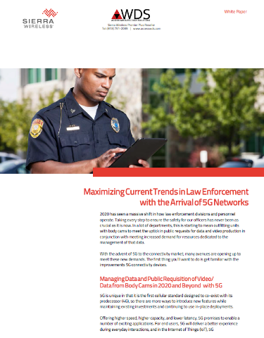 Maximizing Current Trends in Law Enforcement with the Arrival of 5G Networks