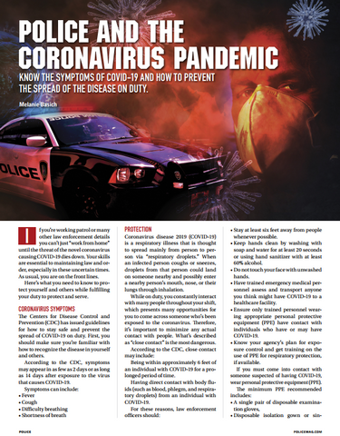 Police and the Coronavirus Pandemic