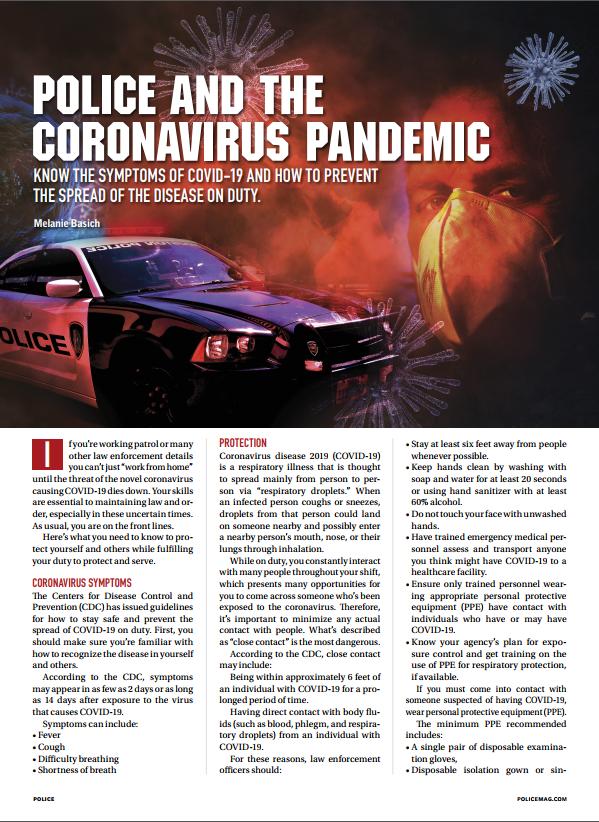 Police and the Coronavirus Pandemic