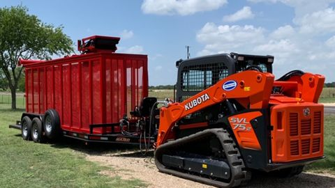 Baker Fabrication's latest 12-inch Hose Mule Skid Steer retrieval system.