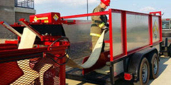 Hose collected using the Hose Cart can easily be transferred to another vehicle too cumbersome...