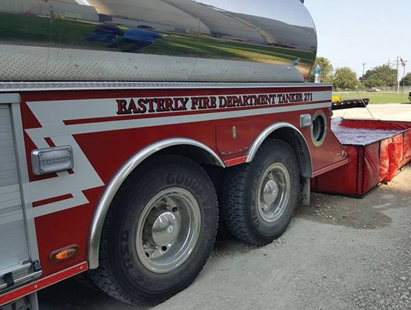 Water tankers are a critical part of a rural VFD's fleet. -