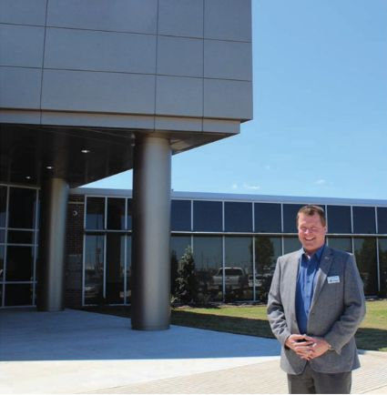 Chris Lamson, President of ISTC, presents the group's new training center in Beaumont, TX. - Photo by Anton Riecher