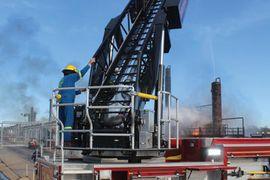 LyondellBasell Responders Bring Aerial in Brayton Fire Training Field