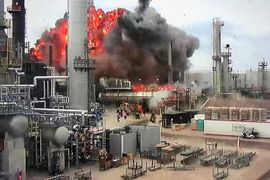 Shrapnel From Blast Set Stage for April Refinery Fire