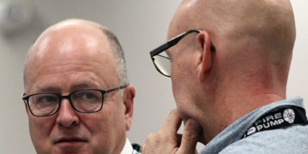 Rotterdam port chief Jan Waals attends Baton Rouge symposium.