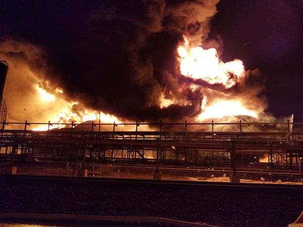 Owners called in Dwight Williams and other associates to extinguish a burning petrochemical terminal in Deer Park, TX. -