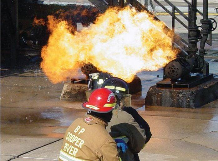 A BP crew fights TEEX prop. - Photo by Anton Riecher