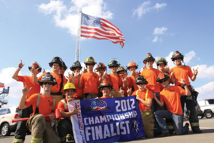 An OSU team placed as finalists at the 2012 Scott Firefighter Combat Challenge. - Photos courtesy of the Fire Protection Publications Archives