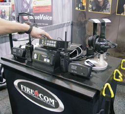 Firecom products on display at Fire Rescue International. - Photo by Anton Riecher