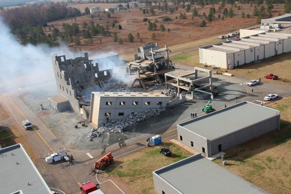 An aerial view of Guardian Centers during an exercise. - Photos provided by Guardian Centers