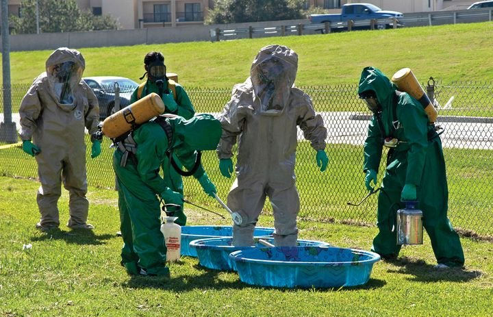 EMTs take training as rescue and hazmat decon responders. - Photo by Win Henderson / FEMA
