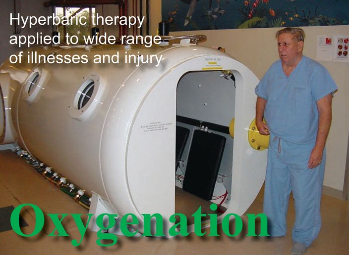 Industrial Fire World publisher David White is prescribed a regimen of hyperbaric treatments after a foot injury in 2012. - Photo by Anton Riecher