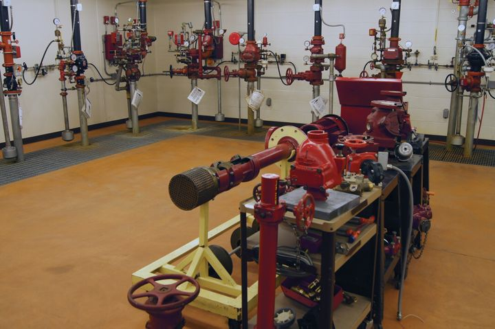 OSU laboratory exposes students to the various sprinkler systems in use today. -