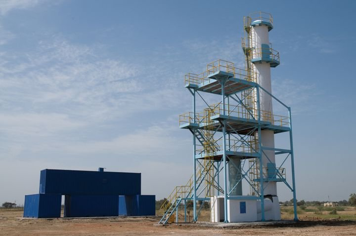 A high angle rescue training tower at IFSDMS in India. -