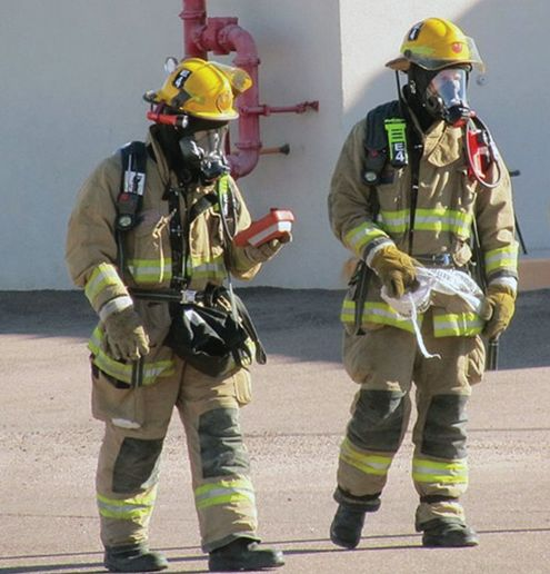 Mesa, AZ, Fire Department responders drill using HazSim. - Photo provided by HazSim