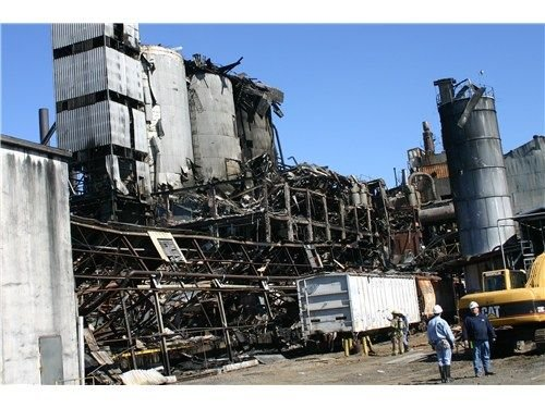 Combustible dust caused a deadly explosion at Imperial Sugar's Georgia refinery. - Photo courtesy of U.S. Chemical Safety Board.
