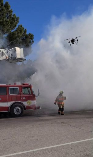 Having eyes in the sky gives fire commanders unprecedented support for critical decisions. Drone footage allows commanders to visually assess how to deploy assets onsite. -