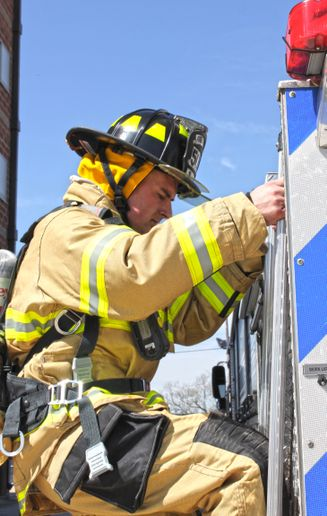 By paying attention to the gear worn in extreme sports, like snowboarding and mountain climbing, manufacturers started putting panels in turnout gear to improve moveability. - Honeywell