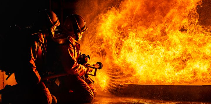 Industrial firefighting is hard, dangerous work. Exposure to fumes, chemicals and burns put firefighters at risk. Extreme heat at fires and high temperatures during strenuous physical activity also pose risk. -