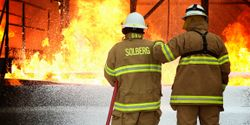 SOLBERG® VERSAGARD® AS-100 concentrate works to take down fires involving solids and liquids with its patent-pending pseudoplastic foam technology