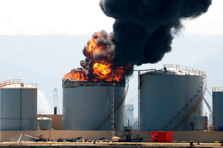 The key to success in battling tank fires is to complete a dynamic risk assessment at the onset of an incident. -