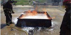 AR-F3 unable to contain gasoline vapors. It appears to react with the foam blanket particularly...