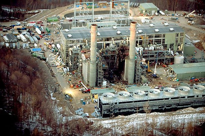 Chemical fires can cause massive devastation and claim many lives. Here is an aerial shot of the devastation at the Kleen Energy Systems plant in 2010 after an explosion killed five people. - Screen shot Healey/Getty