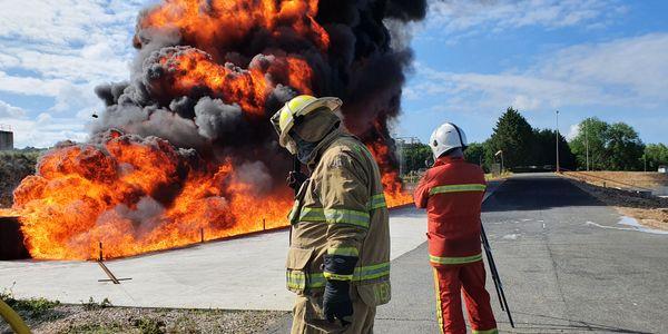 LASTFIRE foam testing in Gesip in June.