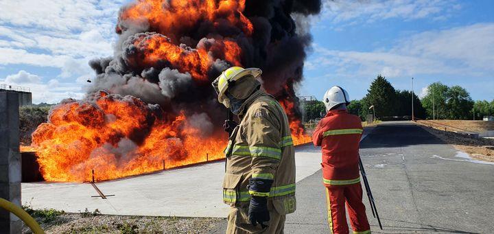 LASTFIRE foam testing in Gesip in June. - LASTFIRE
