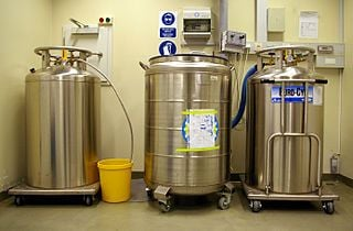 Liquid nitrogen stored in tanks at an industrial facility. - Creative Commons