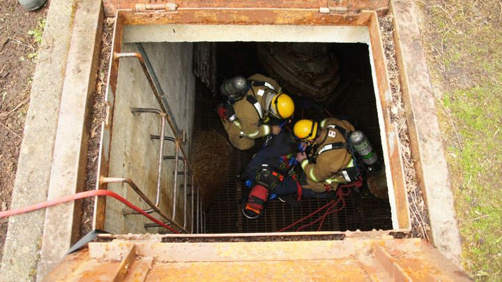 Confined space training helps rescuers recognize hazards and work safely in and around these spaces. - Screenshot Tacoma Fire Department Blog