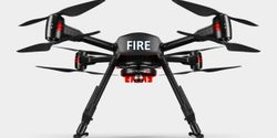 A drone can provide industrial fire brigades with a holistic view of the fire scene.