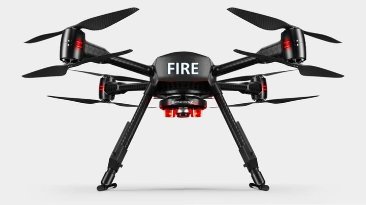 A drone can provide industrial fire brigades with a holistic view of the fire scene. - Aquiline Drones