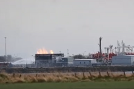 Ground Flaring Fire Disrupts UK Petrochemical Plant