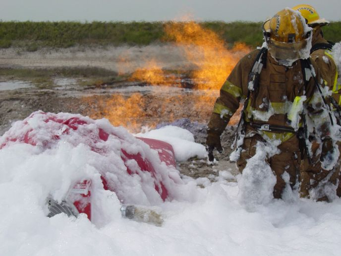Wisconsin legislators have approved new restrictions on flourine firefighting foam, and hope to ban it during training exercises. - Photo by Anton Riecher.