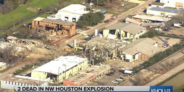 Firefighters comb the debris after an explosion tore apart a machining plant in northwest...