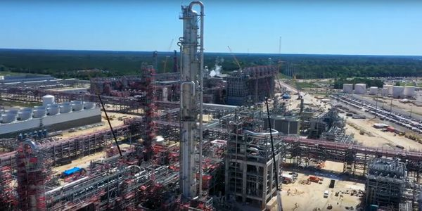 SASOL's Lake Charles Chemical Project under construction in Louisiana.