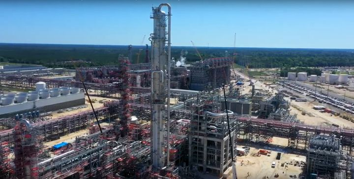 SASOL's Lake Charles Chemical Project under construction in Louisiana. - Screencapture via YouTube