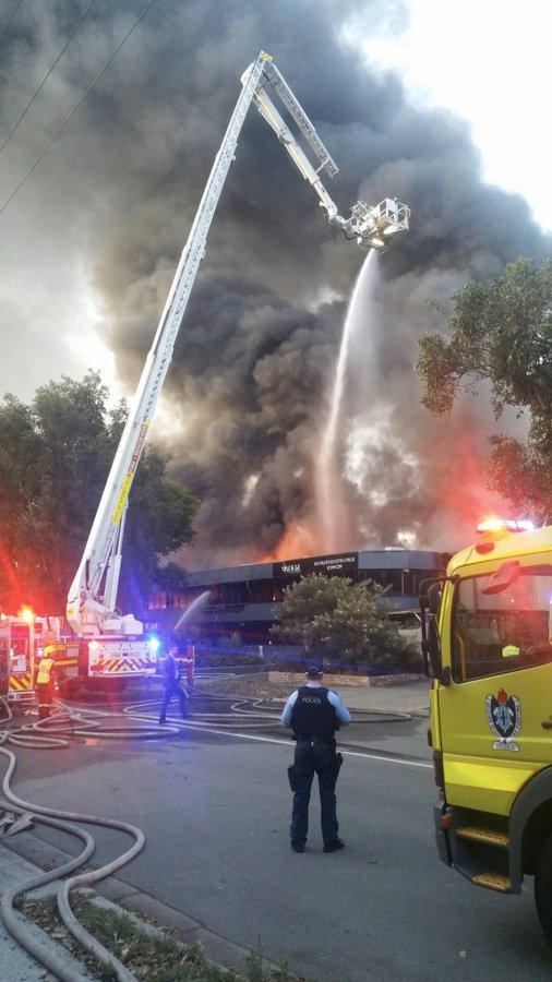 Australian Firefighters Battle Massive Factory Fire