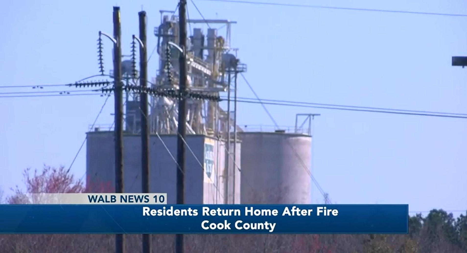 Evacuation Requested During Grain Silo Fire in Georgia