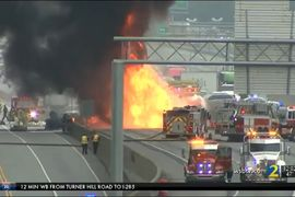 Fiery Atlanta Crash Involving Tanker Truck Kills Two