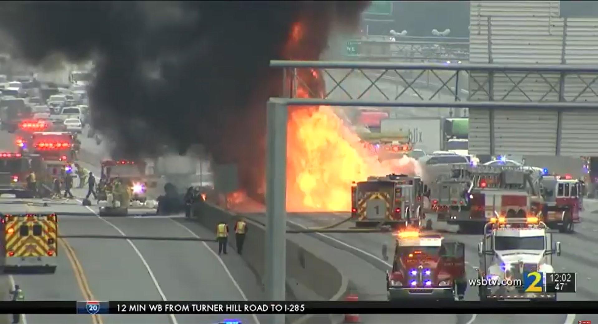 Fiery Atlanta Crash Involving Tanker Truck Kills Two