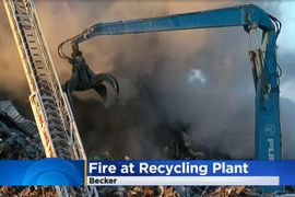 Water Shortage Dictates New Tactics at Minnesota Recycling Yard Fire