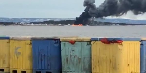 Gulf Shrimp Limited plant in Black Duck Cove goes up in flames last May.