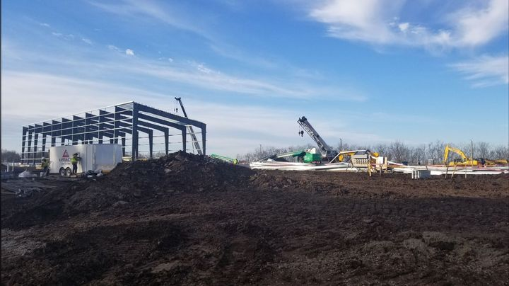 A construction collapse Sunday at DuPont's Circleville, Ohio, chemical plant left one injured. - Courtesy Pickaway County Township Fire Department
