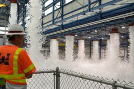 Firefighting Foam Overflows at Virginia Airport Hangar