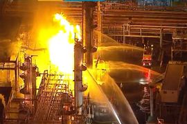 Flames at California Refinery Slowly Burning Out