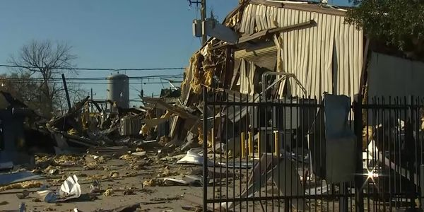 Severe damage is the aftermath of a Jan. 24 explosion at Watson Grinding in Houston.